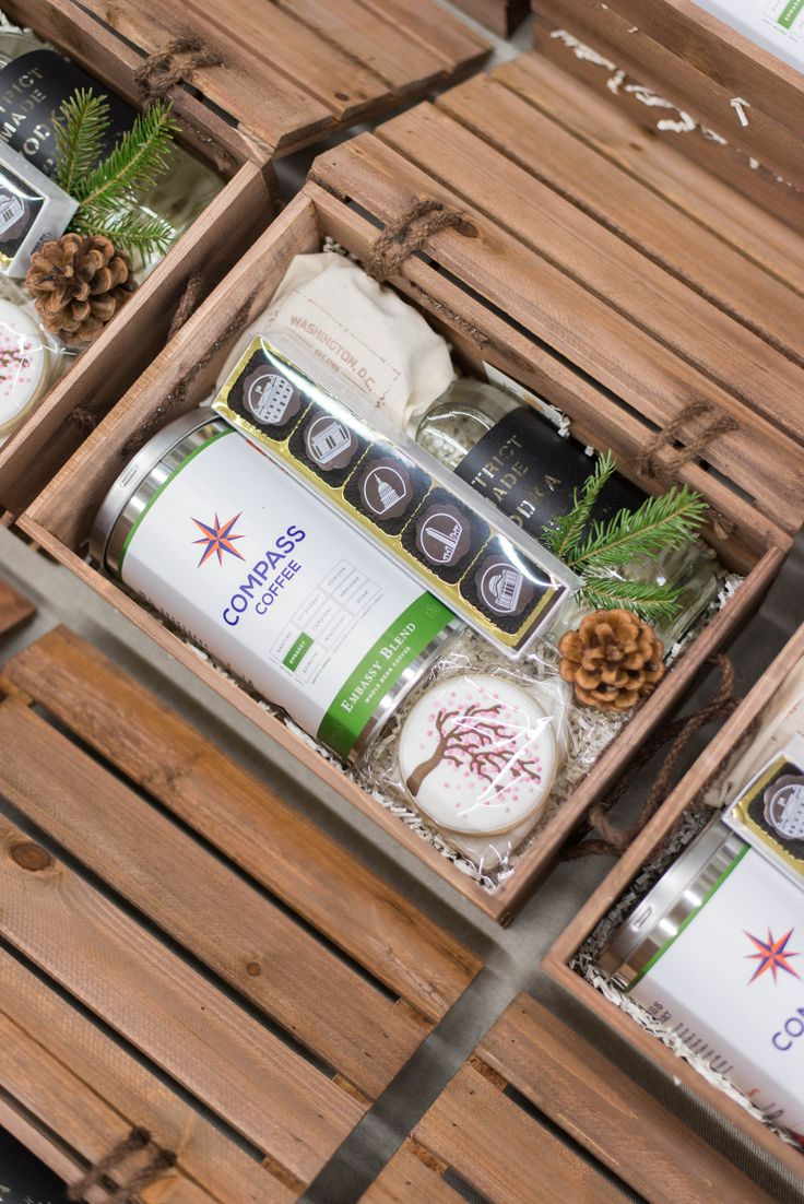 Custom Corporate Holiday Gift Crates. Marigold & Grey will help make your holida...