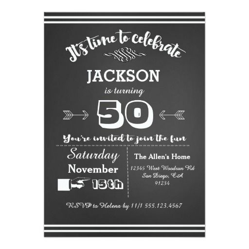 Birthday Gifts Ideas Adult Party Invitation 50th 60th