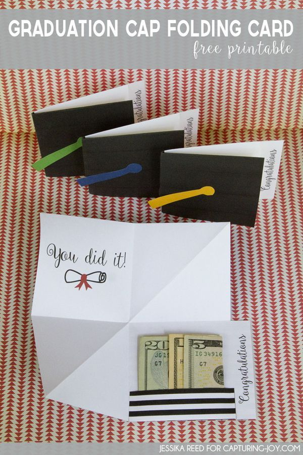 how to make a graduation cap card