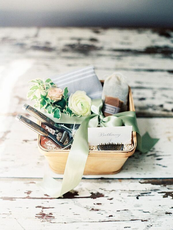 Custom Welcome Gifts for Trouvaille 2016 by Marigold & Grey  Photo By: Nancy Rae...