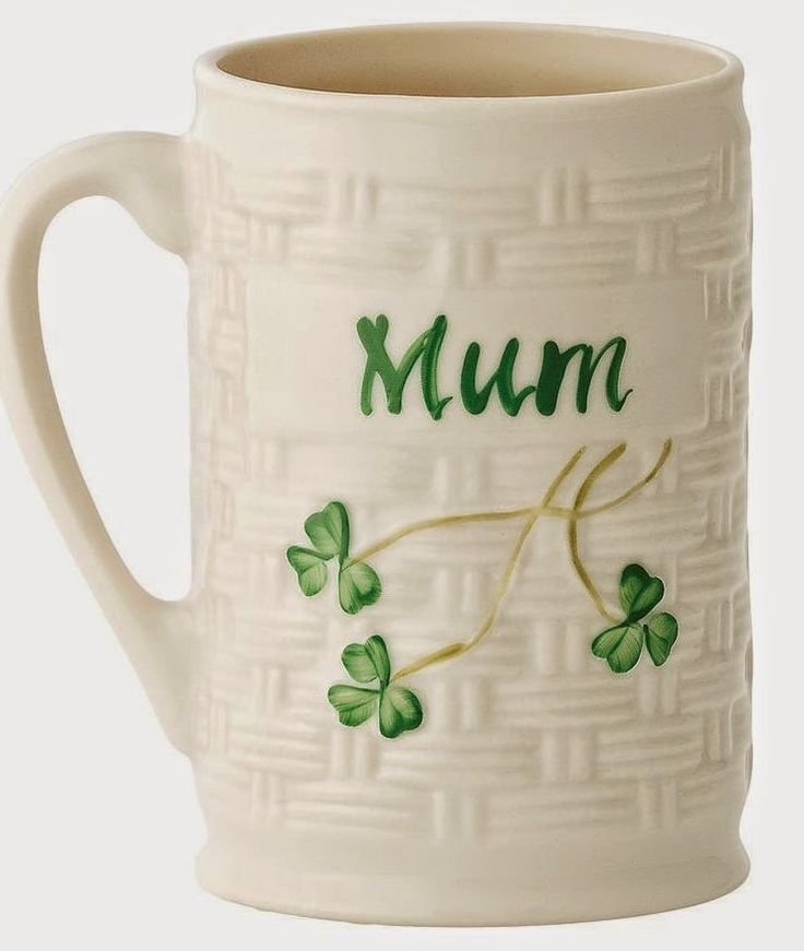 Mom Birthday Gifts Love The Idea Of A Belleek Personalized Mug For