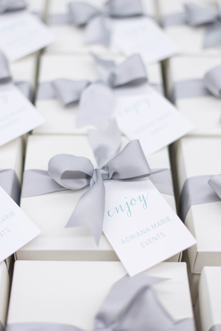 Custom Client Gift Boxes for Maryland Wedding Planner Adriana Marie Events. Mari...