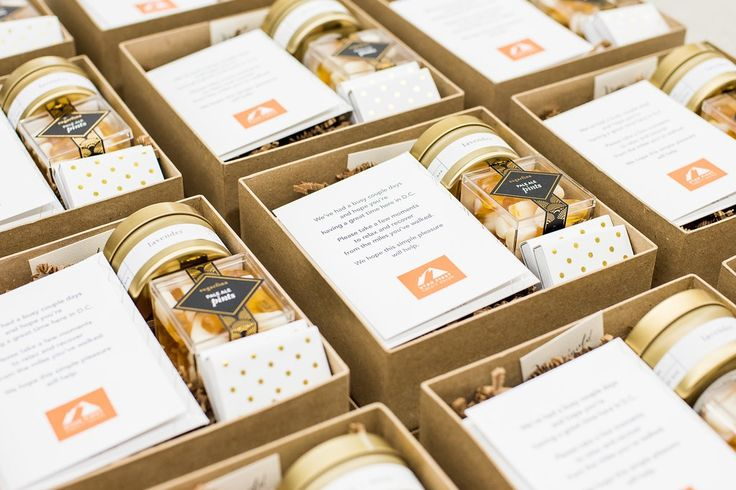 Custom corporate gift boxes by Marigold & Grey  Image: Lissa Ryan Photography
