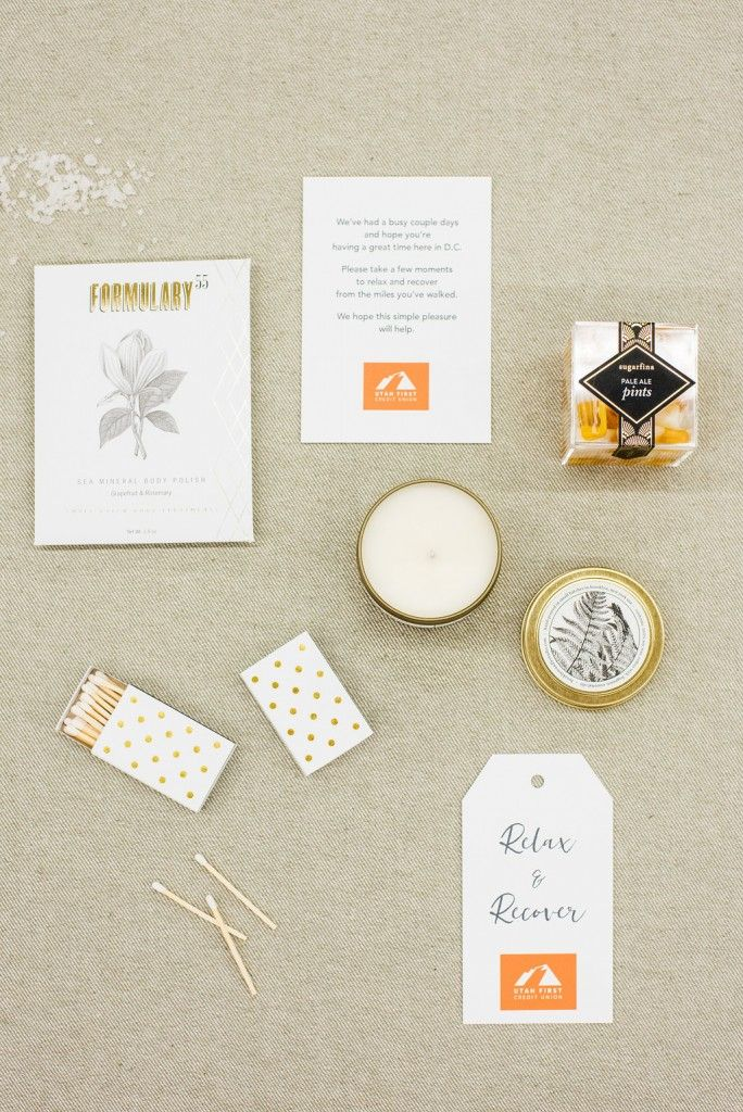 Custom corporate welcome gifts by Marigold & Grey  Image: Lissa Ryan Photography