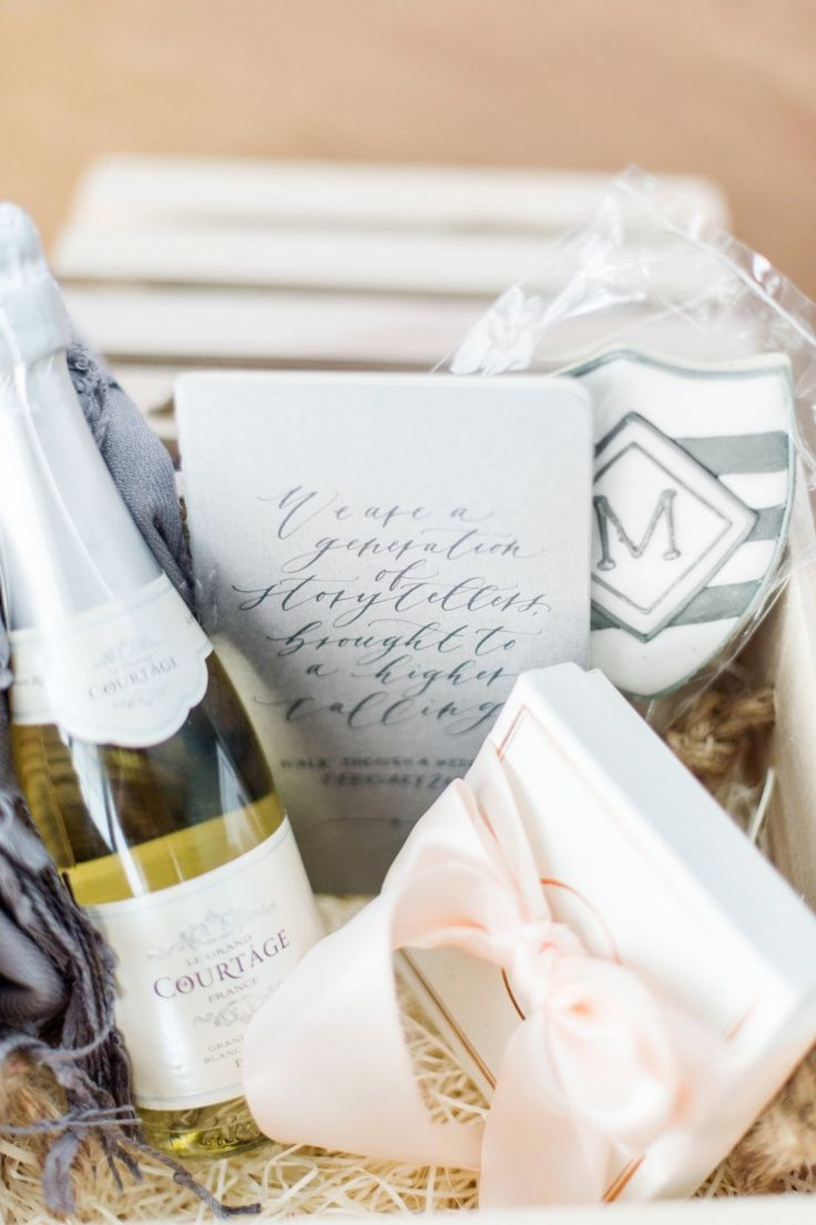 Workshop welcome gift box by Marigold & Grey  Image: Justin & Mary Photography