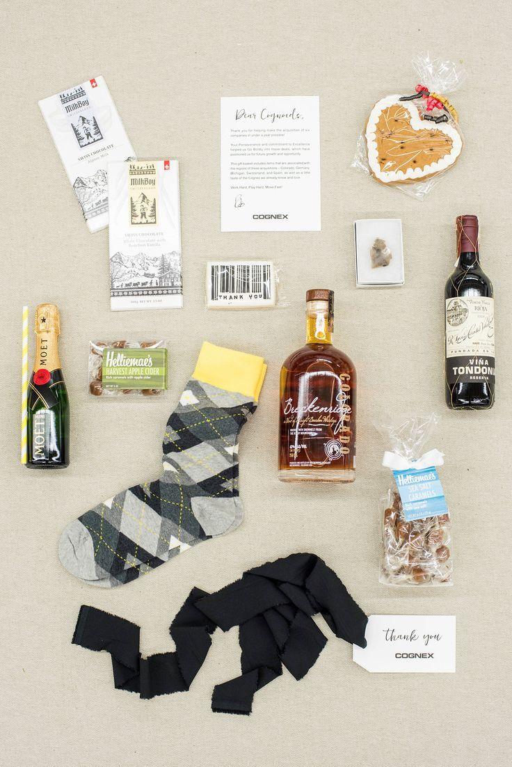 Treats inside a Custom corporate gift. Image: Lissa Ryan Photography   Marigold ...
