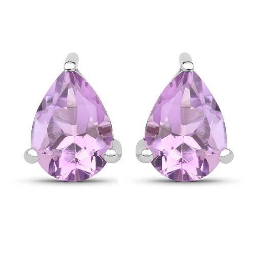 1.25CT Pear Cut Lavender Amethyst Stud Earrings