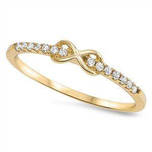 14K Yellow Gold 1.9TCW Russian Lab Diamond Infinity Ring