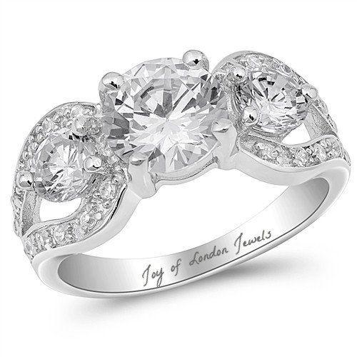 2CT Round Cut Russian Lab Diamond Anniversary Ring