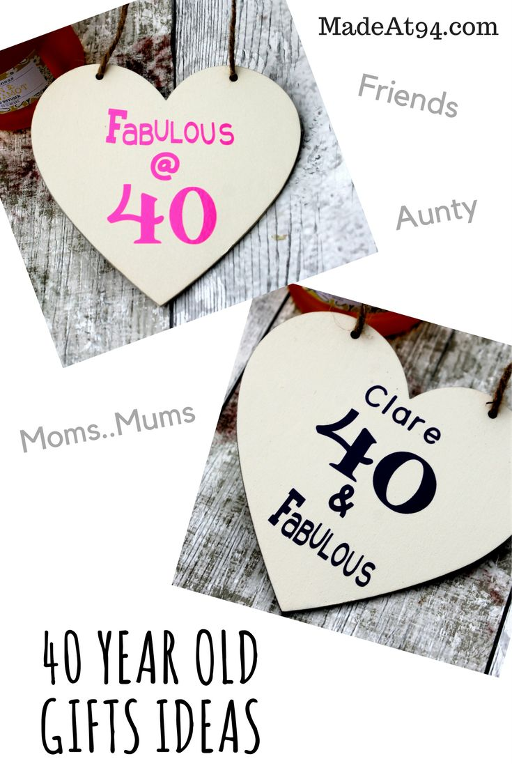 Birthday Gifts 40 Year Old Ideas For Your Mum Wife
