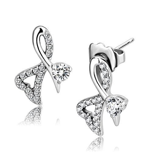.50CT Round Cut Russian Lab Diamond Solitaire Platinum Stud Earrings