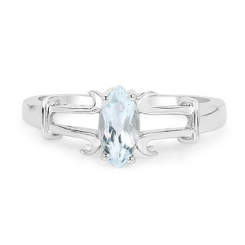 .52CT Marquise Cut Blue Aquamarine Engagement Ring