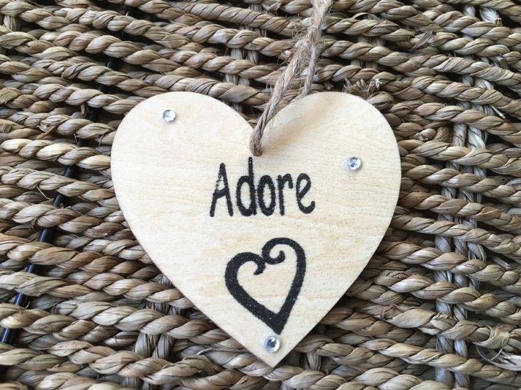 7cm Hanging Adore Heart - Valentines - Little Miss Scrabbled