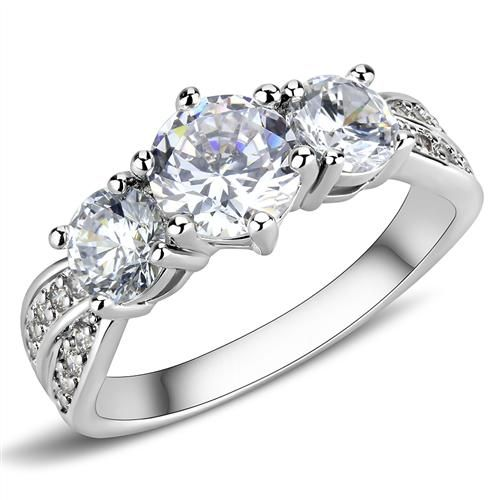 A Perfect 1.5CT Three Stone Journey Russian Lab Diamond Promise Engagement Anniv...