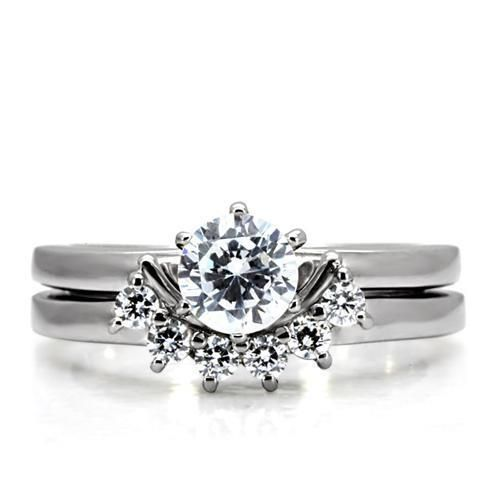 A Perfect 1CT Round Cut Russian Lab Diamond Wedding Band Promise Ring