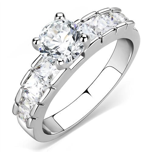 A Perfect 1CT Round Cut Solitaire Russian Lab Diamond Halo Engagement Ring