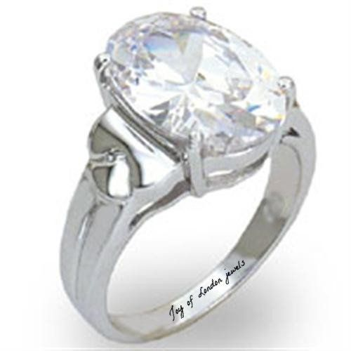 A Perfect 5CT Oval Cut Lab Grown Diamond Engagement Ring
