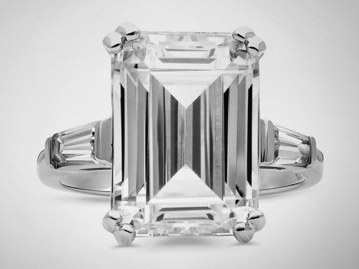 A Perfect 8.6CT Emerald Cut Russian Lab Diamond Ring Love!!!