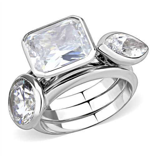 A Perfect Contemporary 7.2TCW Radiant Round Marquise Russian Lab Diamond Bevel S...