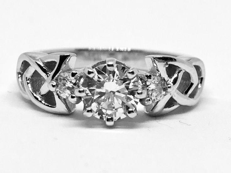 A Perfect CT Cut Russian Lab Diamond Bridal Set