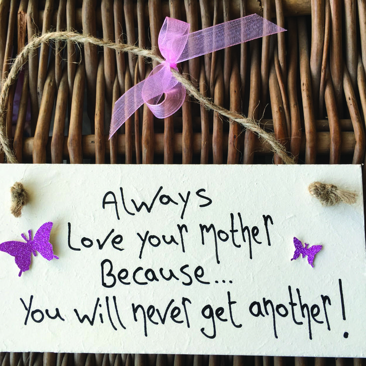 Birthday Gifts Always Love Your Mother Plaque With Butterflys
