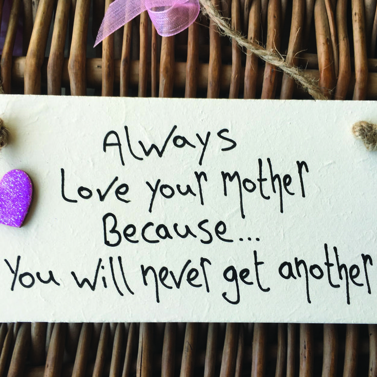 Birthday Gifts Always Love Your Mother Plaque With Glitter Heart