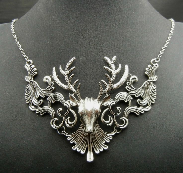Birthday Gifts Bronze Or Silver Faux Deer Antler Bridal Necklace