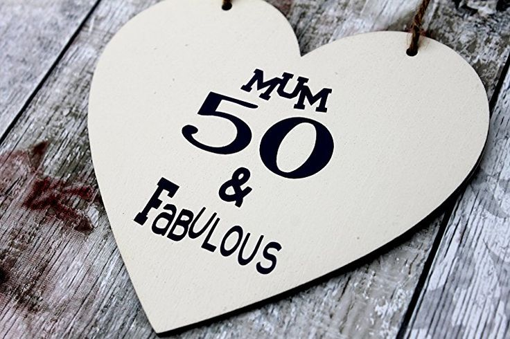 Birthday Gifts Customized 50th Gift Heart Sister Flirty