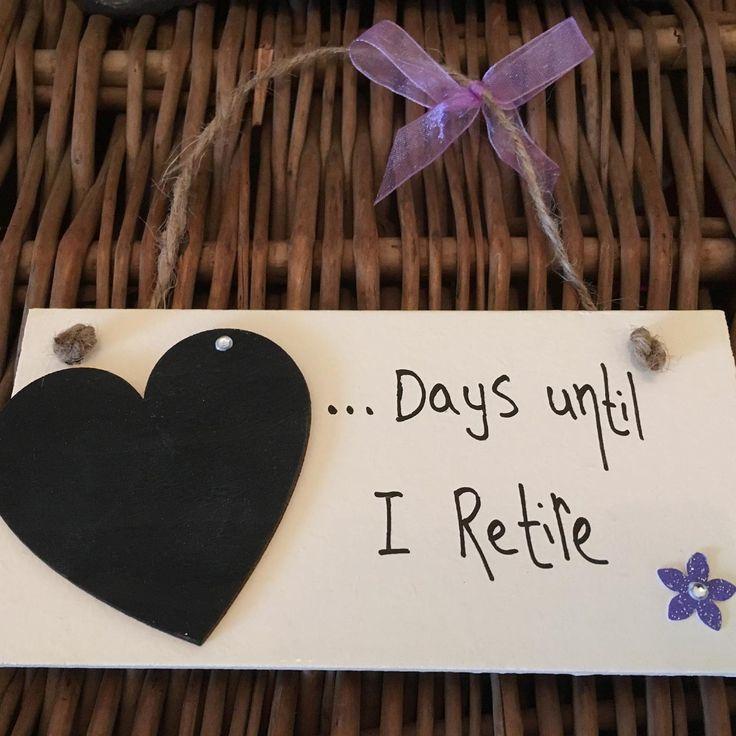 Days Until I Retire Countdown Plaque - Little Miss Scrabbled