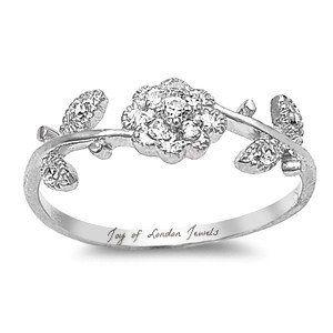 Flower & Vine Russian Lab Diamond Ring
