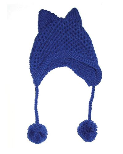 Cat Ear Winter Hat with pom detail. Christmas Gifts For Tweens.