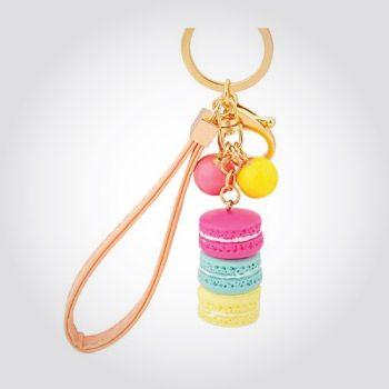 Colorful macaron key chain.  Christmas Gifts for Teen Girls 2017