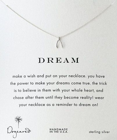 Birthday Gifts for Teenagers  sc 1 st  GiftsDetective.com & Birthday Gifts for Teenagers : Dream Wishbone Pendant Necklace. High ...