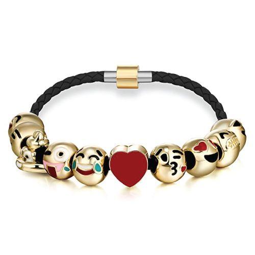 Emoji leather bracelet- Christmas Gifts For Tween Girls