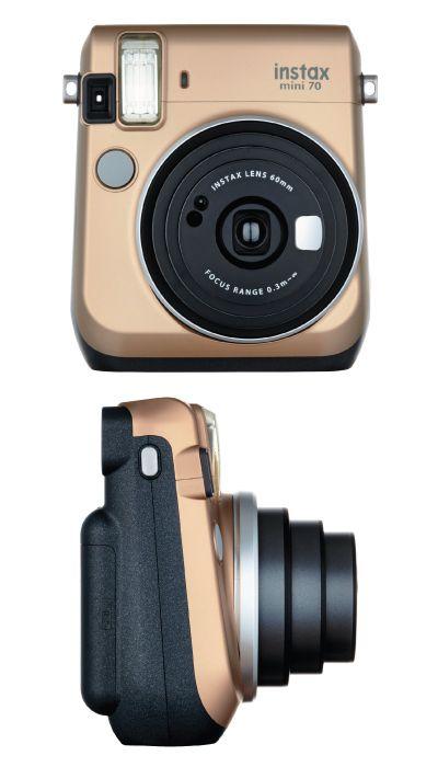 Glam gold Fujifilm Instax Mini 70 Instant Film Camera. Super fun and handy. Wond...