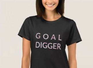 Birthday Gifts For Teenagers Goal Digger T Shirt With Pink Marble Detail