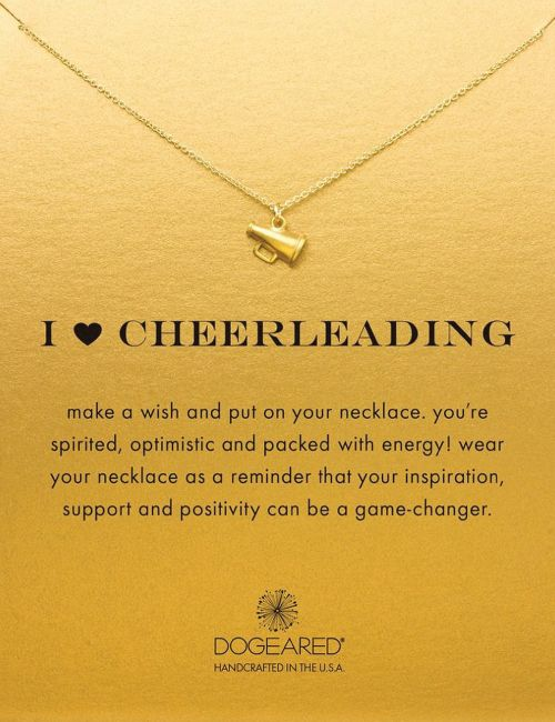 I Heart Cheerleading Necklace. Cheer with the megaphone! Cheerleading girlfriend...