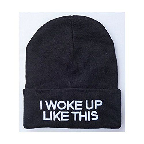 I Woke Up Like This Beanie. Teens fashion. Holiday gifts for best friends. Chris...