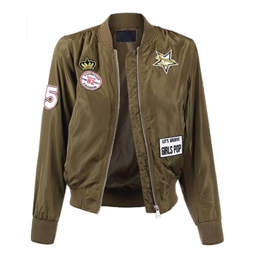 Military Inspired Bomber Jacket. Holiday gift guide for her. Christmas Gifts for...