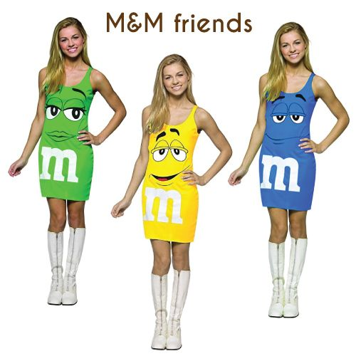 M&M Chocolates Group Costumes for Halloween (Costumes For Tween Girls)