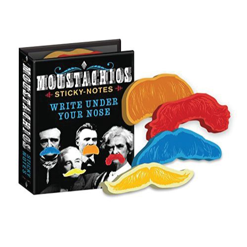 Moustachios Mustache Sticky Notes Booklet. School supplies. Christmas Gifts For ...