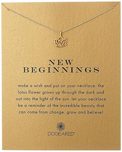New Beginnings Lotus Necklace - High School Graduation Gifts for Her (suitable f...