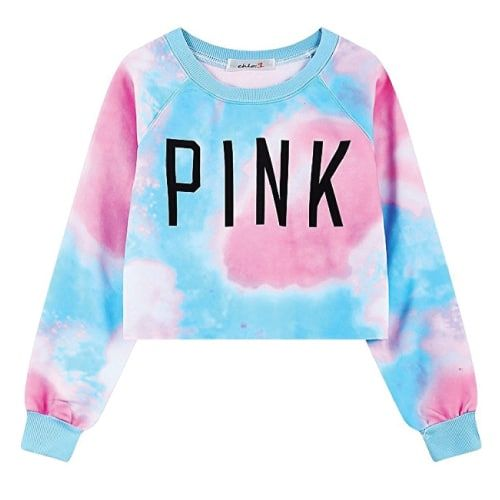 OMG I love the pastel colors of this Tie Dye Pink Sweater. I think it is perfect...