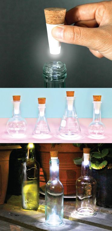 OMG I love this unique cork-shaped light. fits in any bottle to give such cool g...