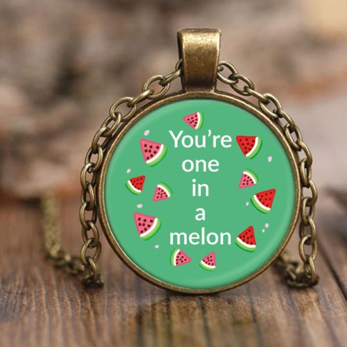 One in A Melon Pendant Necklace- Christmas gifts for tween daughter #watermelon ...