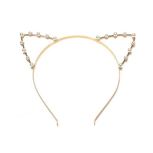 Pretty Cat Ear Headband with Pearls suitable for teen girls and cat ladies (Chri...