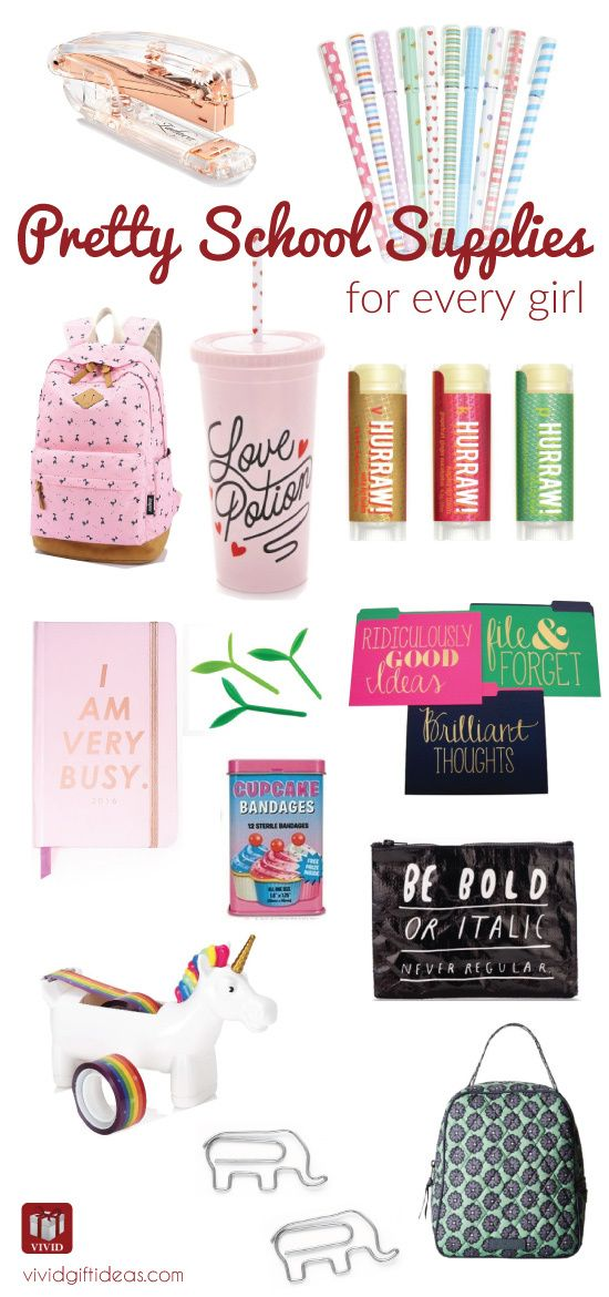 School supplies for teens. highschool or college. Cute and stylish. Must-haves f...