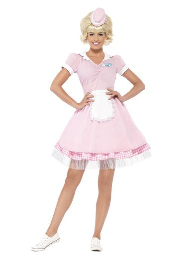 Sweet pink outfit for teen girls. 50s Diner Girl. Lovely and adorable. Halloween...