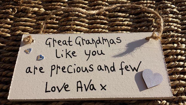 Great Grandmas Like you are Precious and Few Plaque