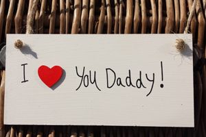 'I Love You Daddy' Cream Wooden Plaque